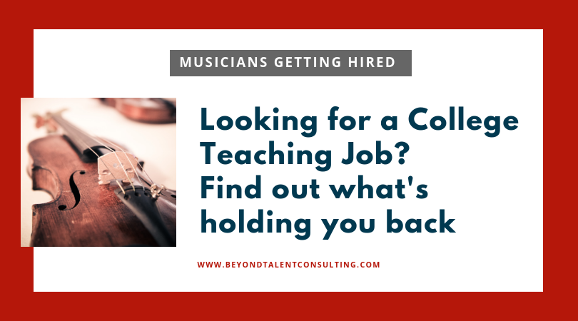 Open up if you're serious about landing a college teaching job in music