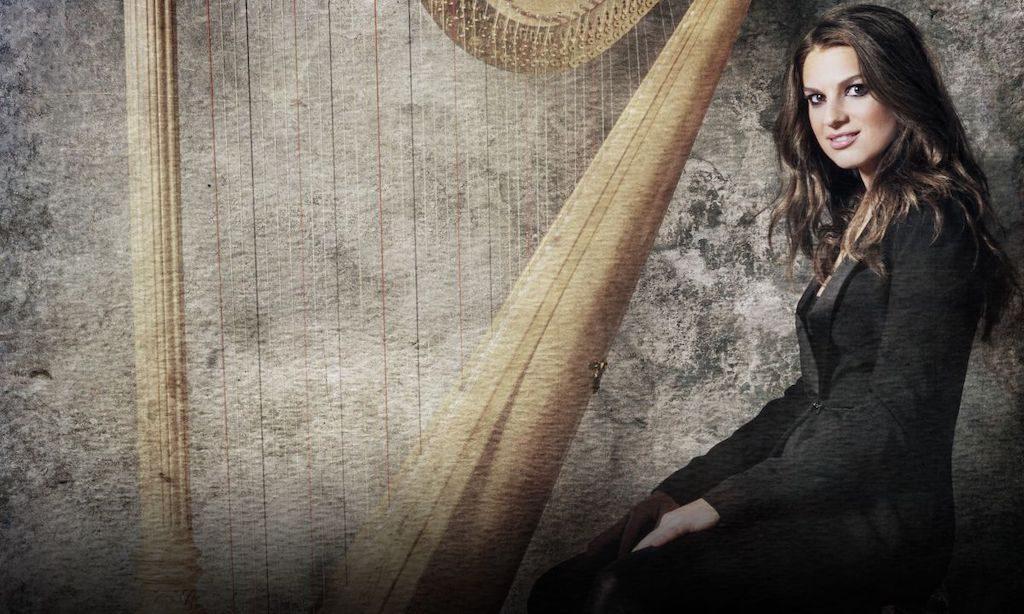 photo of harpist Bridget Kibbey