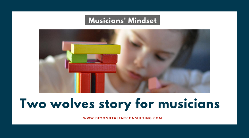Two wolves story for musicians