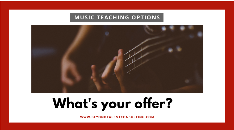 Musician: what's your offer?