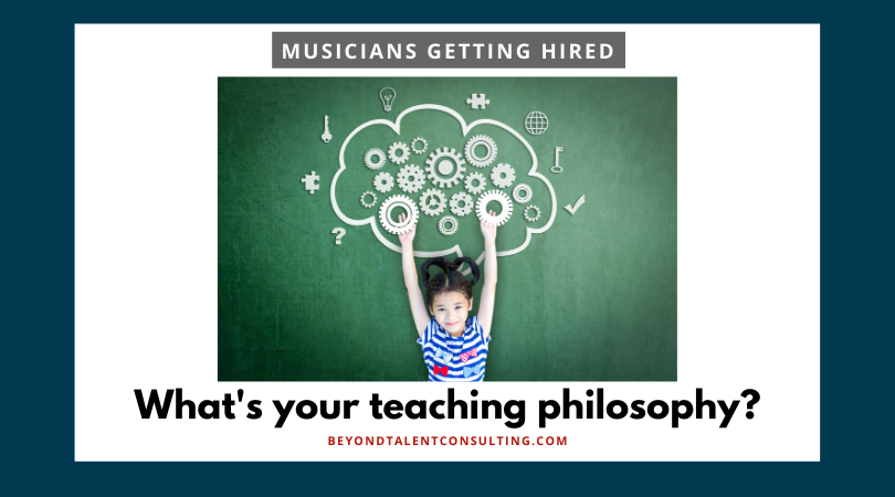Musician: What's your teaching philosophy?