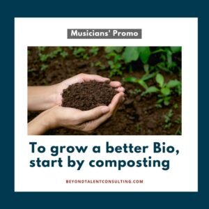To book more work, start by composting